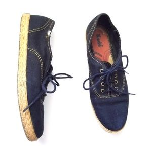 Vintage ked's lace up canvas espidrilles